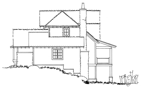 Bungalow, Cottage, Country, Craftsman House Plan 43223 with 5 Beds, 4 Baths, 2 Car Garage Picture 2