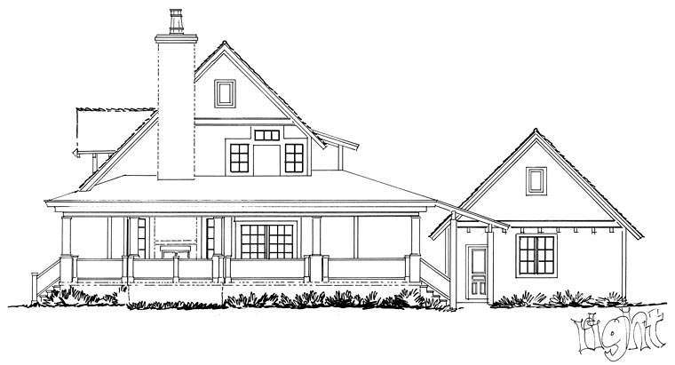 Country, Farmhouse, Southern House Plan 43237 with 4 Beds, 4 Baths, 2 Car Garage Picture 3