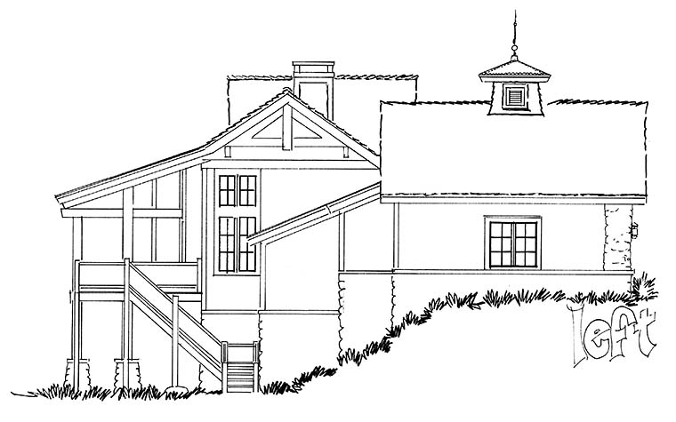 Cottage, Country, Craftsman House Plan 43238 with 3 Beds, 3 Baths, 3 Car Garage Picture 1