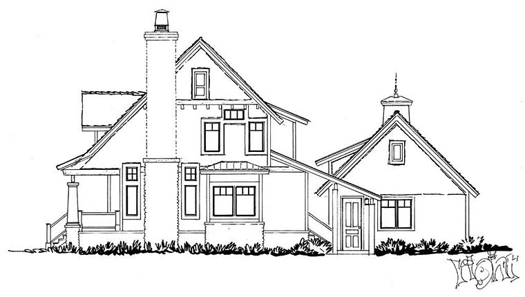 Bungalow, Cottage, Craftsman House Plan 43246 with 3 Beds, 3 Baths, 2 Car Garage Picture 1