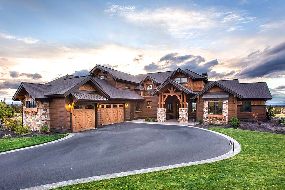 Country, Craftsman House Plan 43301 with 3 Beds, 5 Baths, 3 Car Garage Elevation