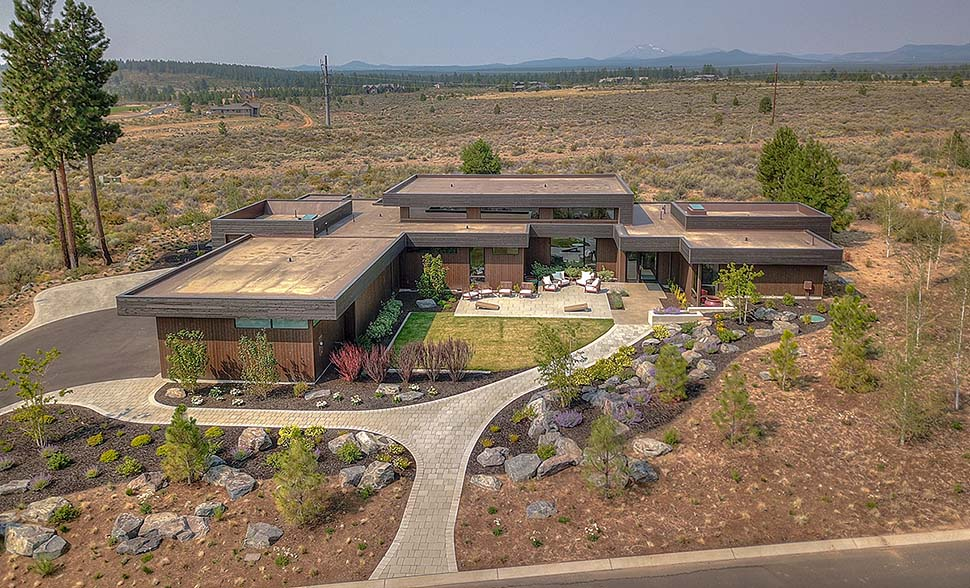 Modern House Plan 43321 with 3 Beds, 4 Baths, 3 Car Garage Elevation