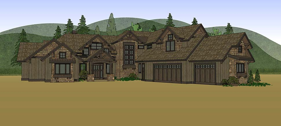 Country, Craftsman House Plan 43326 with 5 Beds, 6 Baths, 3 Car Garage Picture 13