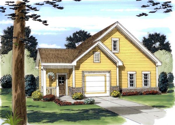 1 Car Garage Plan 44059 Elevation