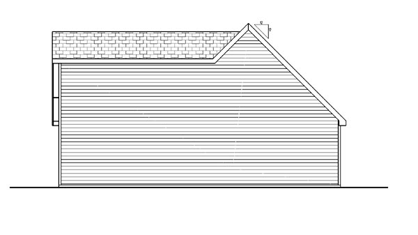 Farmhouse, Traditional 2 Car Garage Plan 44149 Rear Elevation