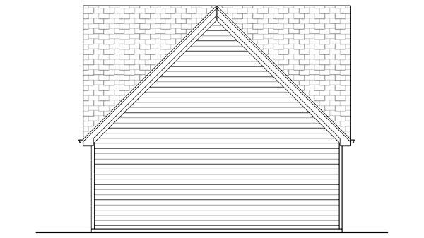 Craftsman, Traditional 2 Car Garage Plan 44152 Rear Elevation