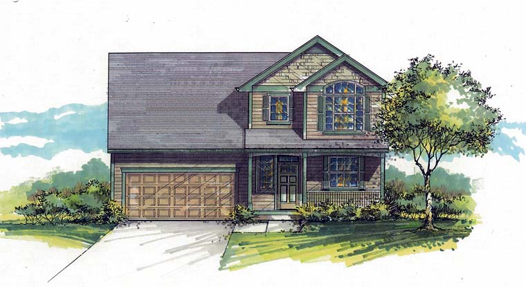 Country, Southern, Traditional House Plan 44515 with 3 Beds, 3 Baths, 2 Car Garage Elevation