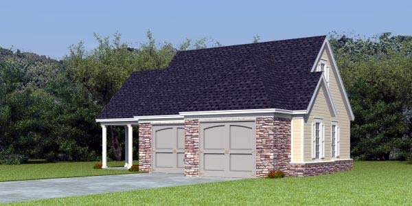 2 Car Garage Apartment Plan 44905 Elevation