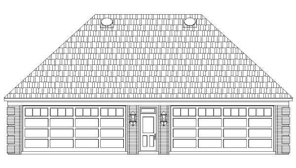 4 Car Garage Apartment Plan 44906 with 1 Beds, 2 Baths Picture 1