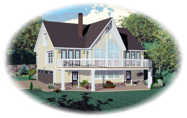 Country House Plan 44919 with 3 Beds, 3 Baths, 2 Car Garage Elevation