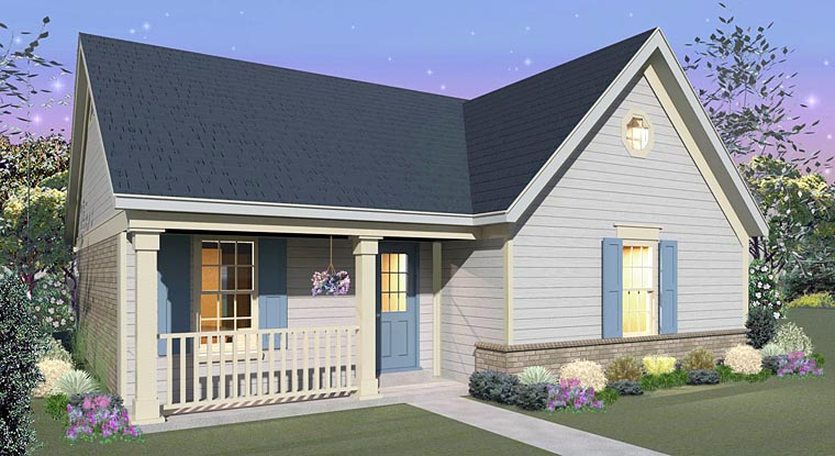 Country House Plan 44928 with 3 Beds, 2 Baths Elevation
