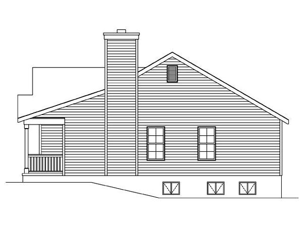Ranch, Traditional House Plan 45105 with 2 Beds, 2 Baths, 1 Car Garage Picture 2