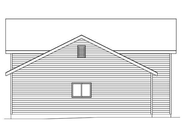 2 Car Garage Plan 45116, RV Storage Picture 1