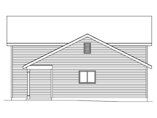 2 Car Garage Plan 45116, RV Storage Picture 2