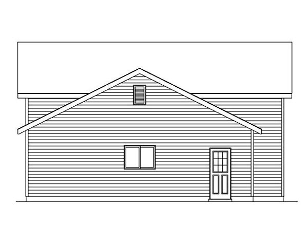 2 Car Garage Plan 45118, RV Storage Picture 1