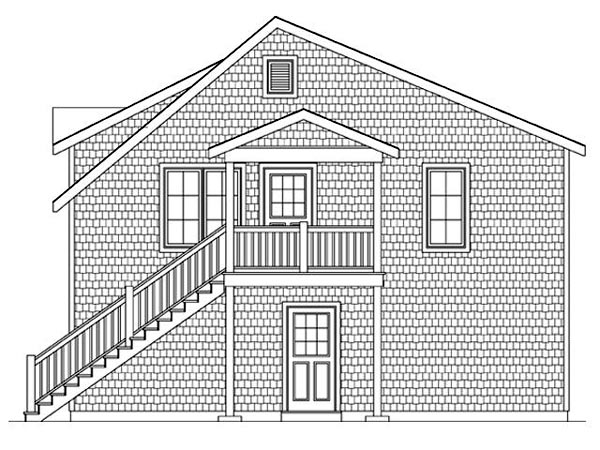 2 Car Garage Apartment Plan 45121 with 2 Beds, 1 Baths Picture 2
