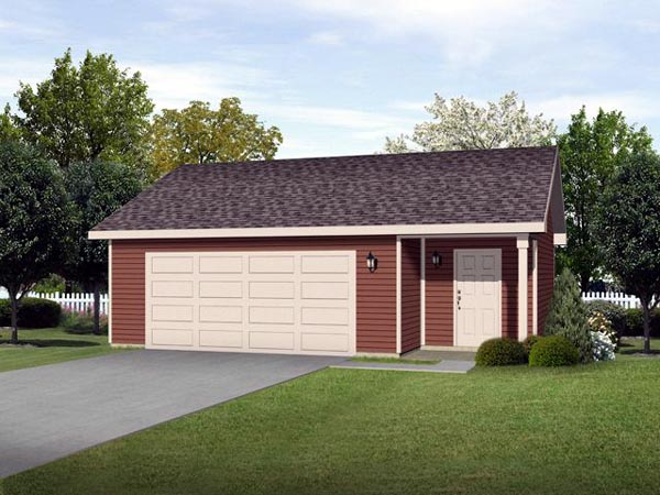 2 Car Garage Plan 45124 Elevation