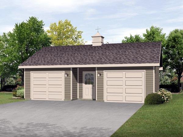 2 Car Garage Plan 45125 Front Elevation