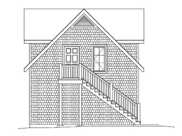 2 Car Garage Apartment Plan 45128 with 1 Beds, 1 Baths Picture 1
