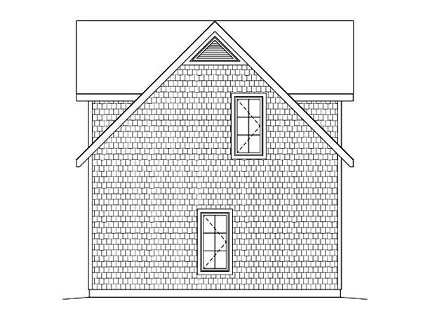 2 Car Garage Apartment Plan 45128 with 1 Beds, 1 Baths Picture 2