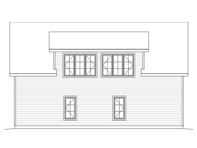 3 Car Garage Plan 45131 Rear Elevation
