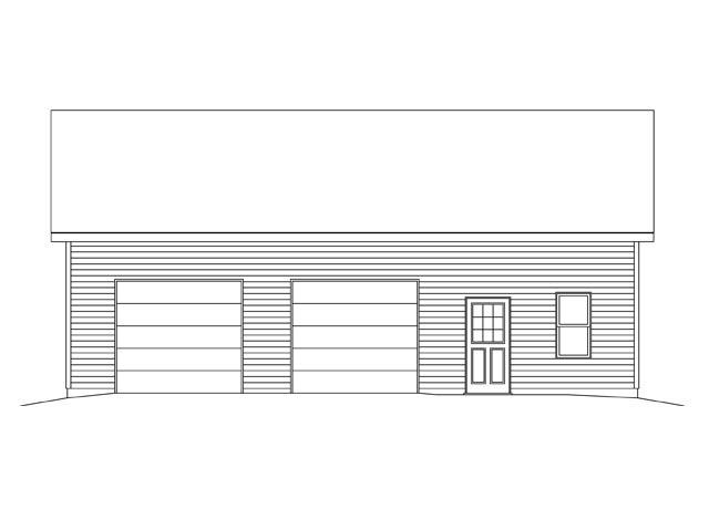 2 Car Garage Plan 45142 Picture 3