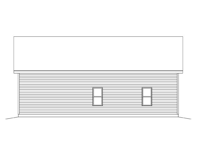 2 Car Garage Plan 45142 Rear Elevation