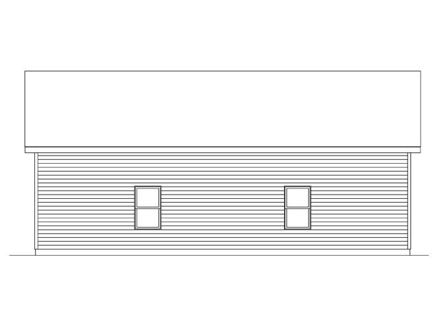 3 Car Garage Plan 45146 Rear Elevation