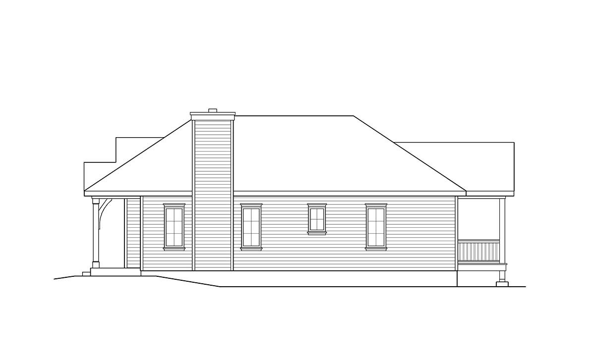 Cabin, Country, Traditional House Plan 45154 with 2 Beds, 2 Baths Picture 1