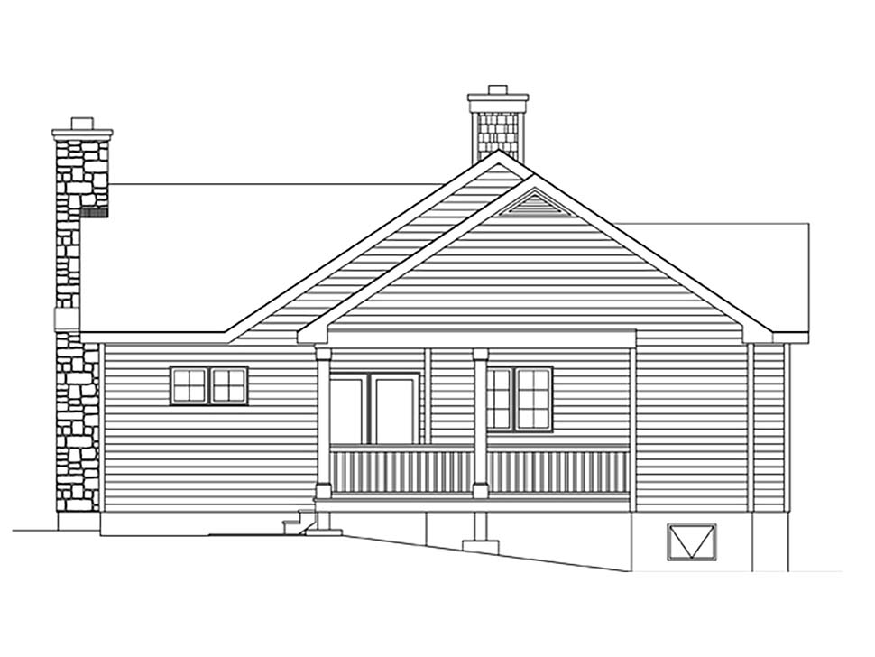 Bungalow, Cottage House Plan 45162 with 2 Beds, 2 Baths Picture 1