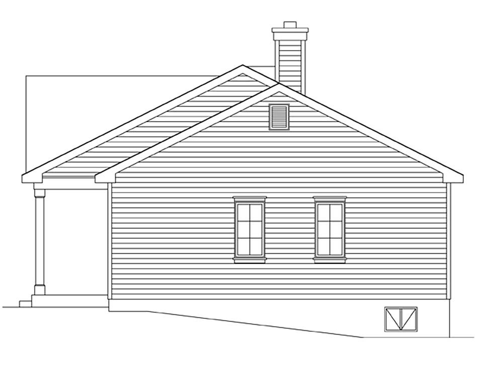Bungalow, Cottage House Plan 45163 with 1 Beds, 1 Baths Picture 1