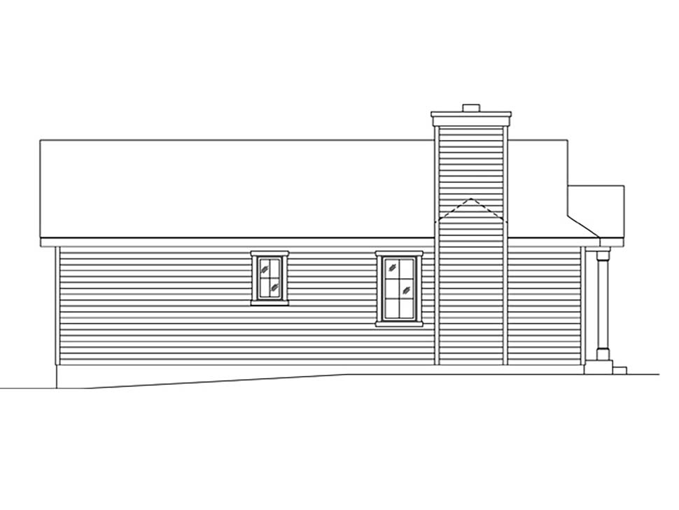 Bungalow, Cottage, One-Story House Plan 45169 with 1 Beds, 1 Baths Picture 2