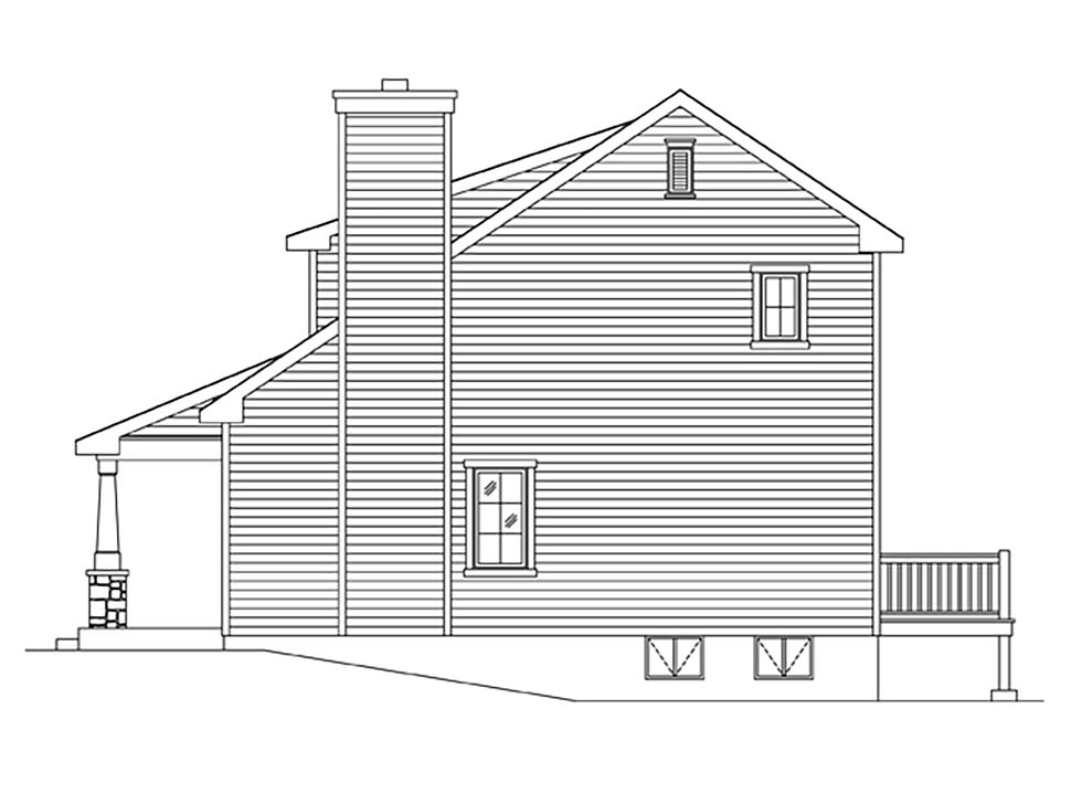Craftsman, Narrow Lot House Plan 45170 with 1 Beds, 2 Baths Picture 1