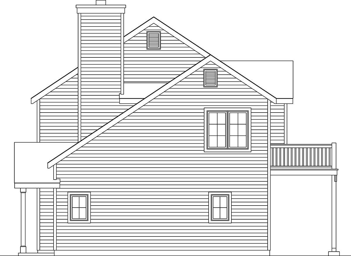 Traditional House Plan 45190 with 2 Beds, 3 Baths, 2 Car Garage Picture 1