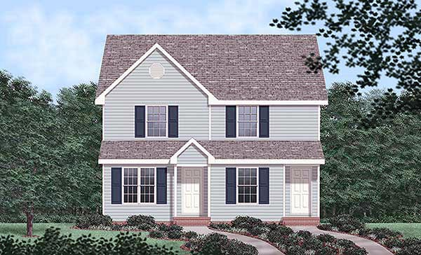Narrow Lot Multi-Family Plan 45367 with 4 Beds, 4 Baths Elevation