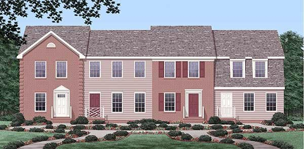 Multi-Family Plan 45372 with 8 Beds, 8 Baths Elevation
