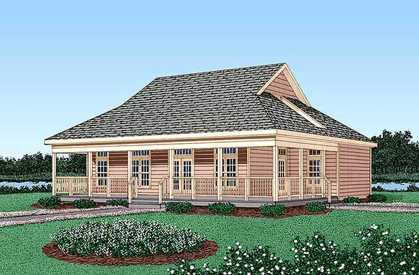 Country House Plan 45403 with 4 Beds, 3 Baths Elevation