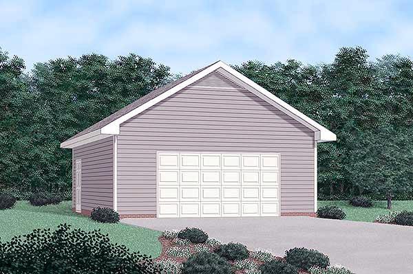 2 Car Garage Plan 45482 Front Elevation