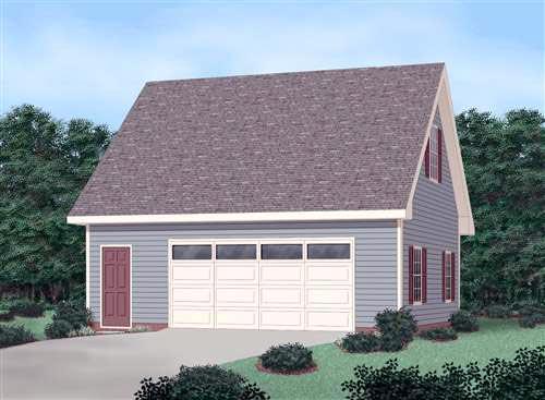 2 Car Garage Plan 45522 Elevation