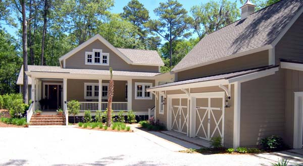 Country, Southern House Plan 45666 with 2 Beds, 3 Baths, 2 Car Garage Front Elevation