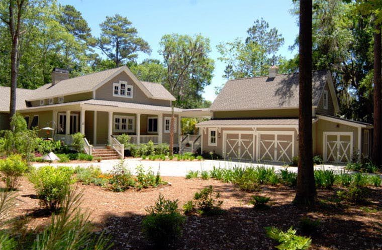 Country, Southern House Plan 45666 with 2 Beds, 3 Baths, 2 Car Garage Picture 10