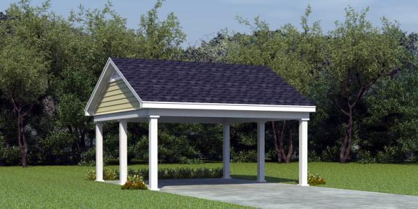 2 Car Garage Plan 45769 Front Elevation