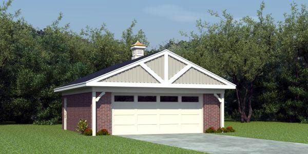 2 Car Garage Plan 45795 Front Elevation