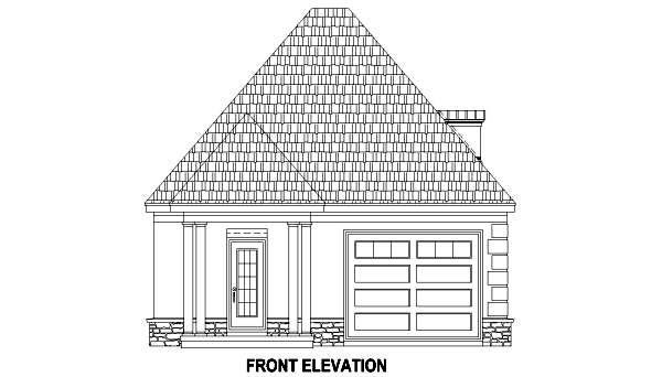 European 1 Car Garage Plan 45796 Picture 2