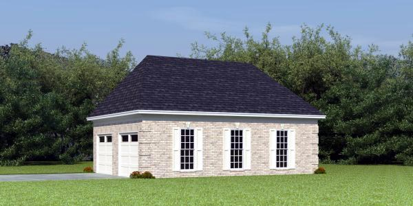 Traditional 2 Car Garage Plan 46423 Elevation