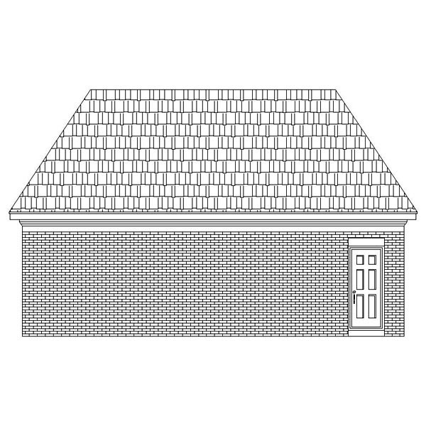 Traditional 2 Car Garage Plan 46423 Rear Elevation