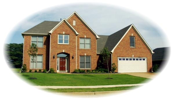 Colonial House Plan 46648 with 4 Beds, 4 Baths, 2 Car Garage Elevation