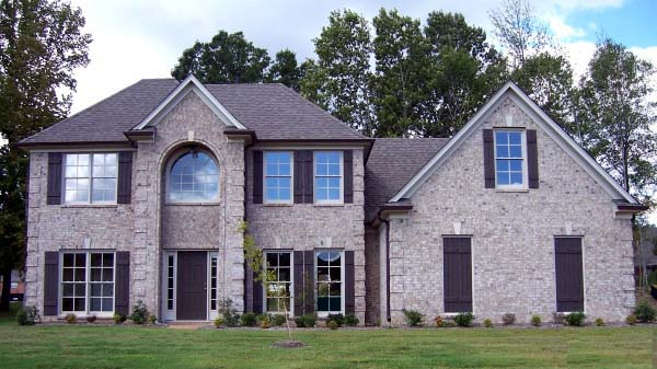 House Plan 46996 with 4 Beds, 3 Baths, 2 Car Garage Elevation