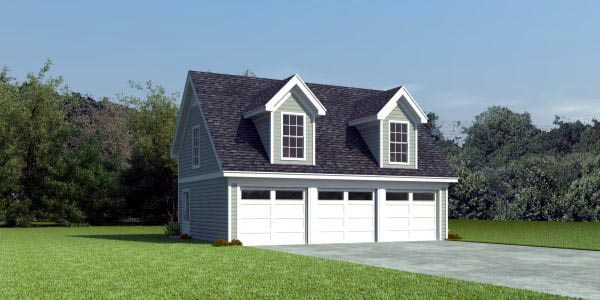 2 Car Garage Plan 47002 Elevation