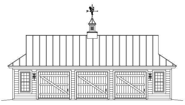 Farmhouse 3 Car Garage Plan 47082 Picture 1
